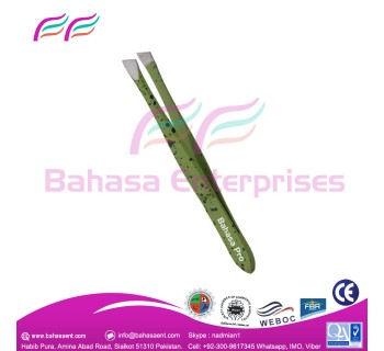 Green tweezers perfectly made eyebrow shapes  made By Bahasa Pro.
