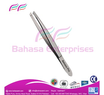 Stainless steel tweezers can use for any small objects pickup. made By Bahasa Pro.