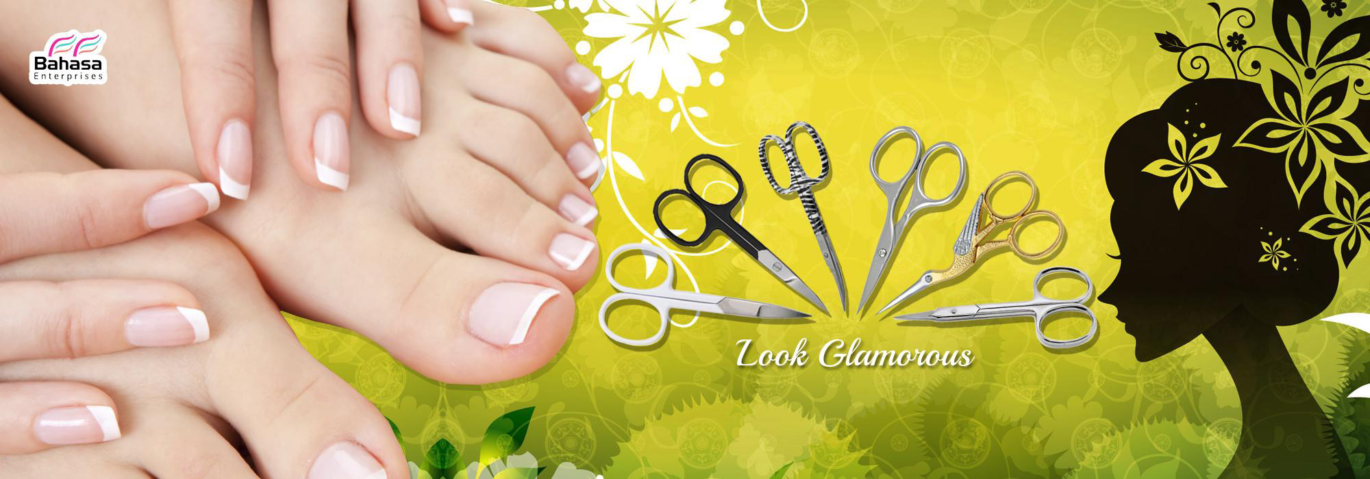 Stainless steel cuticle scissors